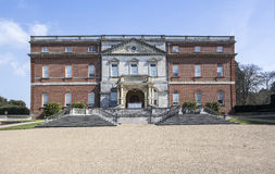 Clandon Park Palladian Mansion front view. Panorama of Clandon Park a 18th century Palladian Mansion near Guildford Surrey England owned by the National Trust Stock Photography