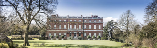 Clandon Park Palladian Mansion. Panorama of the Clandon Park a 18th century Palladian Mansion near Guildford Surrey England owned by the National Trust Stock Photos