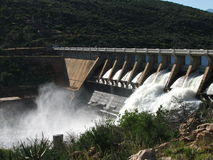 Clanwilliam Dam near Cape Town. South Africa. Dam was one hundred percent full here for the first time in more than 15 years royalty free stock photo