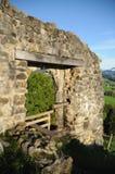 Clanx城堡废墟 库存照片