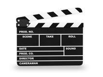 Clap action cinema. 3D illustration Stock Images