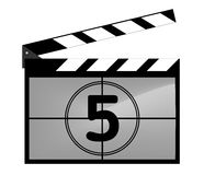 Clap board with countdown. Illustration of clap board with countdown Royalty Free Stock Images