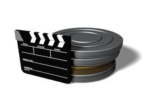 Clap Board and Film Cans Royalty Free Stock Photo