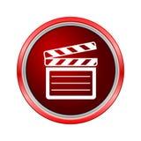 Clap board icon, Internet button on white background. Vector icon Stock Photo