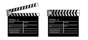 Clap cinema(picture) Royalty Free Stock Image