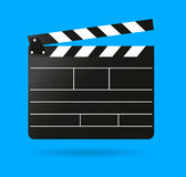 Clap movie board vector clapper. Vector realistic Stock Photo