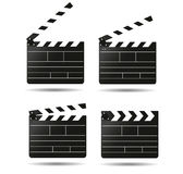 Clap movie board vector clapper. Vector realistic Royalty Free Stock Images