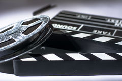 Clap movie on a light background Royalty Free Stock Photo