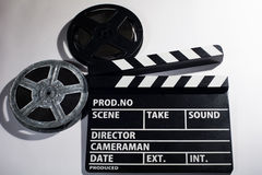 Clap movie on a light background Royalty Free Stock Photography