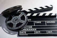 Clap movie on a light background Stock Images
