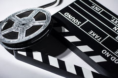 Clap movie on a light background. Royalty Free Stock Photography