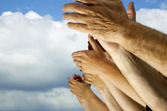 Clap your hands!. Storm of applause royalty free stock image