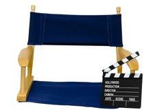 clapboard εδρών κινηματογράφηση σ&ep Στοκ Φωτογραφία