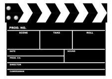 clapboard κινηματογράφος Στοκ Φωτογραφία