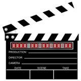 clapboard κινηματογράφος Στοκ εικόνα με δικαίωμα ελεύθερης χρήσης