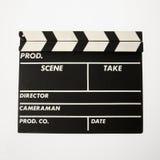 clapboard κινηματογράφος Στοκ Φωτογραφίες