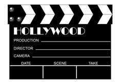 clapboard κινηματογράφος Στοκ εικόνες με δικαίωμα ελεύθερης χρήσης
