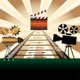 clapboard προβολείς κινηματογράφων Στοκ φωτογραφία με δικαίωμα ελεύθερης χρήσης