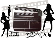 clapboard кино иллюстрация вектора
