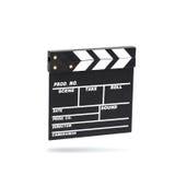 Clapboard фильма Изолировано на белизне Стоковая Фотография RF