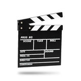 Clapboard фильма Изолировано на белизне Стоковая Фотография