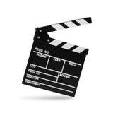 Clapboard фильма Изолировано на белизне Стоковое Изображение RF
