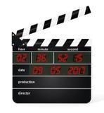 Clapboard цифров изолированный на белой предпосылке иллюстрация 3d Стоковое Изображение RF