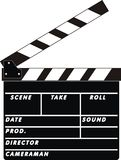 Clapboard. The isolated illustration of the cinema clapboard Royalty Free Stock Images