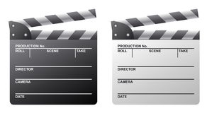 Clapboard. Old Fashioned Clapboard. Black and white versions included Stock Photography