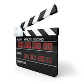 Clapboard. On the white background Stock Image