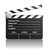 Clapboard. Cinema clapboard over white background Royalty Free Stock Photography