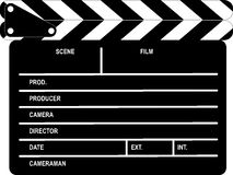Clapboard. Black and white closed clapboard Royalty Free Stock Photography