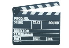 Clapboard. A photo of a Hollywood moviw clapboard Stock Photos