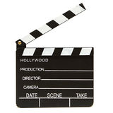 Clapboard. An isolated shot of a hollywood clapboard for film production Royalty Free Stock Images