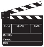 Clapboard. Open Clapboard. Vector illustration available Royalty Free Stock Photo