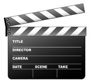 Clapboard. On the white background Royalty Free Stock Images