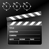 Clapboard. On the black background Stock Photo