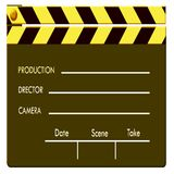 Clapboard. Film clapboard / 2D digital computer art Royalty Free Stock Photo