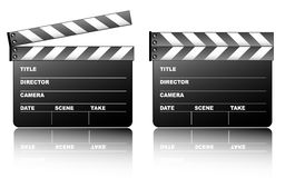 Clapboard. On the white background Royalty Free Stock Image