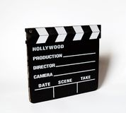Clapboard. Over white Stock Photography