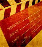 Clapboard. Film Clapboard, 2D digital art Stock Images