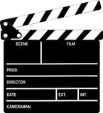 Clapboard. Black and white clapboard Stock Photo