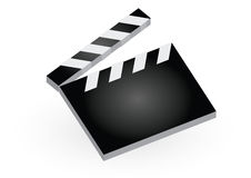 Clapboard. Isolated clapboard in white background Royalty Free Stock Image