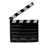 Clapboard. Directors clapboard isolated on a white background Stock Image