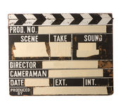 Clapboard. Old clapboard on white background Stock Images
