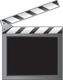 Clapboard. A film slate or clapboard with an empty space for text Stock Photo