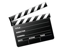 Clapboard. Vector illustration of a clapboard as used by movie directors Royalty Free Stock Images