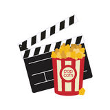 Clapboard cinema movie design Royalty Free Stock Photo
