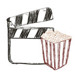 Clapboard cinema movie design Stock Photo