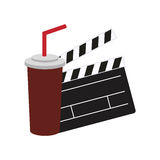 Clapboard cinema movie design Stock Image